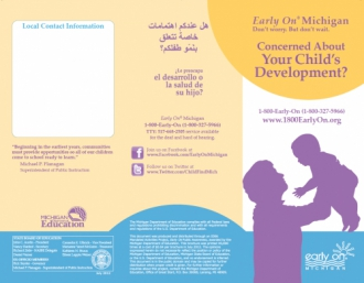 Image of English Early On Child Development Brochure